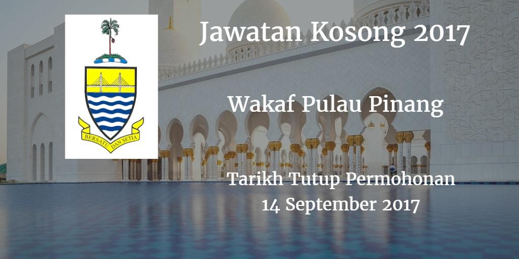 Jawatan Kosong Wakaf Pulau Pinang (MAINPP) 14 September 2017