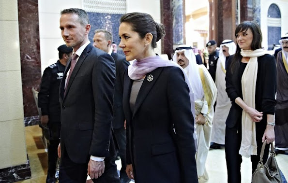 Crown Prince Frederik and Crown Princess Mary of Denmark start a 5 day business trip to Saudi Arabia and Qatar.