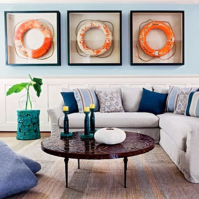 life preserver rings wall decor ideas