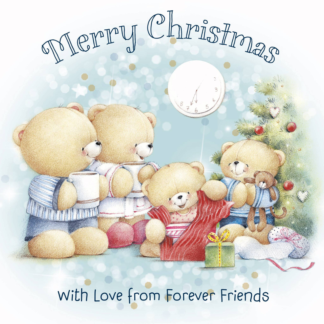 Cute Merry Christmas Wallpaper Dogs Cool Wallpaper 可愛圖案 Forever Friends Wallpapers 卡通桌布 熊