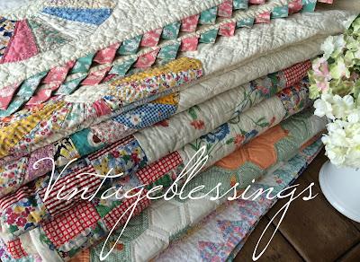 Depression Era Feedsack Quilts Vintageblessings