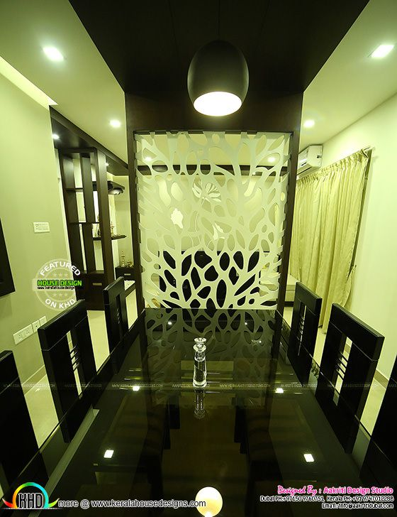 Dining room interior in Kannur, Kerala