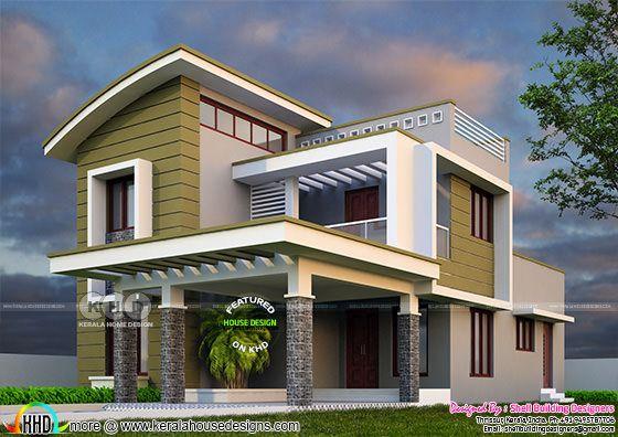 2375 sq-ft, 4 bedroom modern house plan