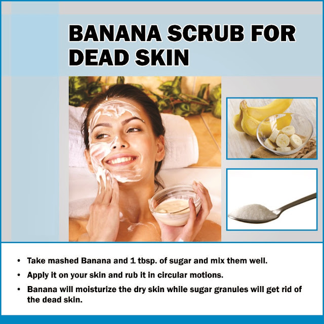 Remedy of Banana for Face Dead Skin Removal