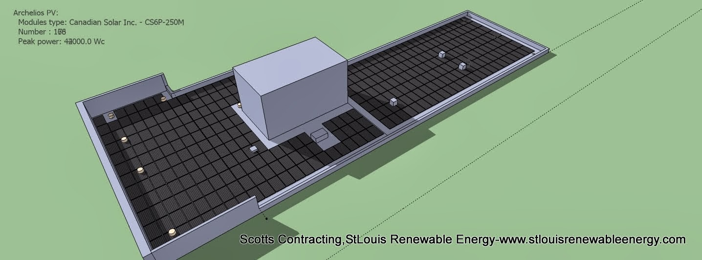 Install Solar Modules 'Notice Shading Area'