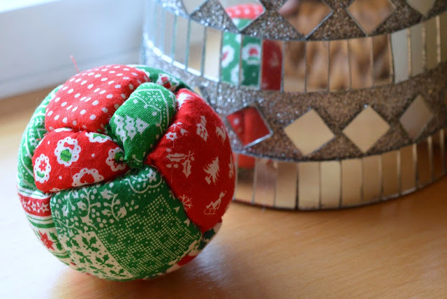 handmade quilted christmas ornament