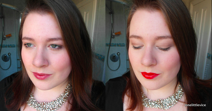 One Little Vice Beauty Blog: Wild About Beauty Lipstick Cherrie Nutrilips Balm Hannah