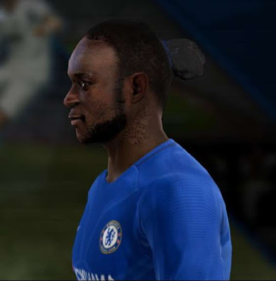 Victor Moses Face with Neck Tattoo PES 2013
