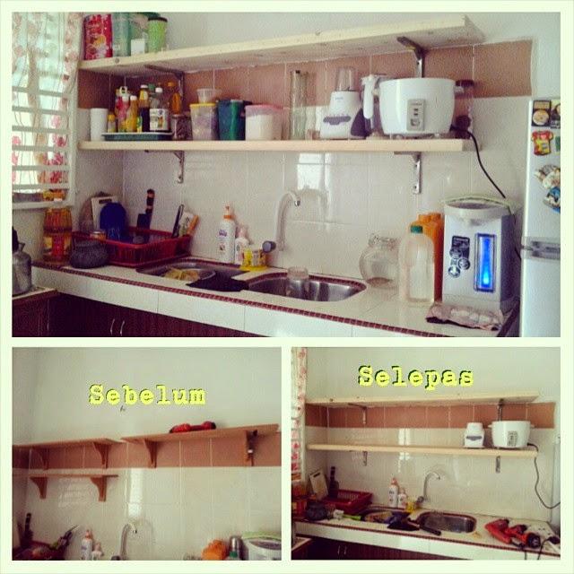 Kerja Kayu Projek Pallet Rak Dapur