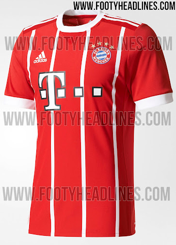 check out c08ee d0d13 Bayern Munich 17-18 Home Kit Released - Footy Headlines