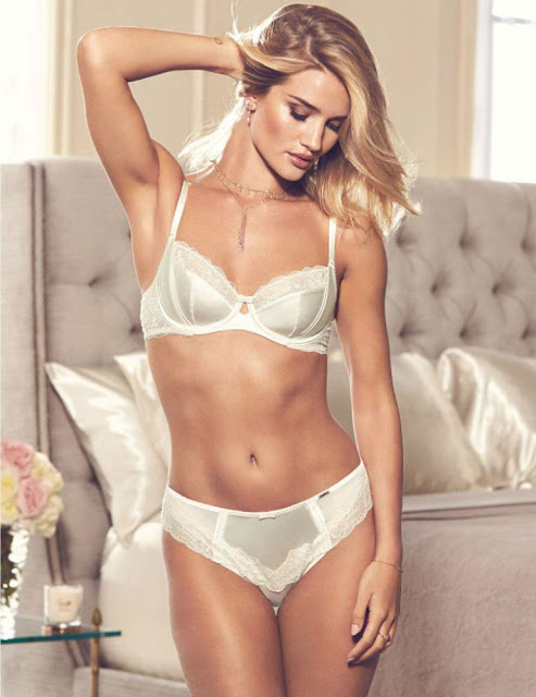 Rosie Huntington-Whiteley models news lingerie collection