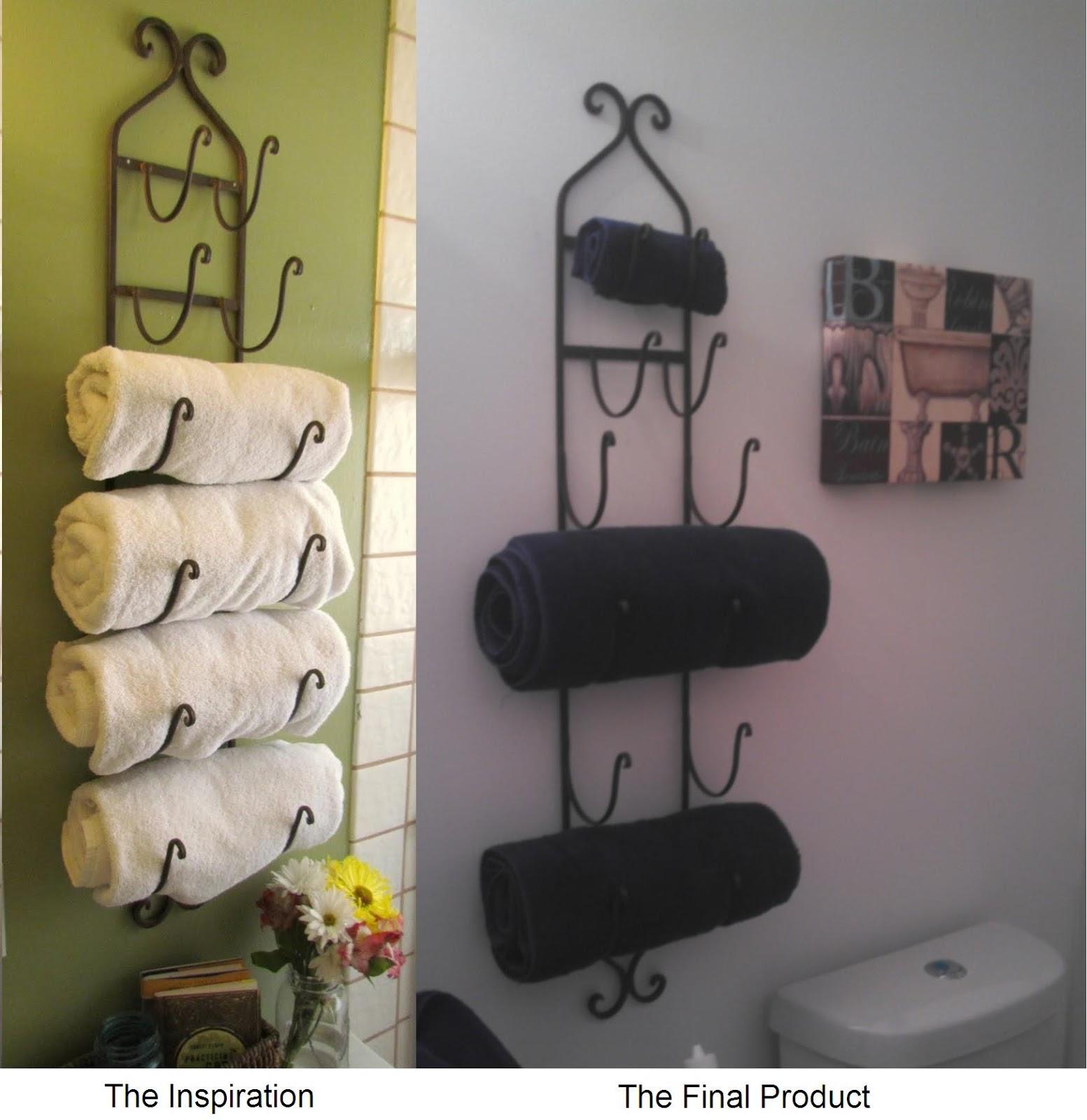 Bath decoration pinterest. diy bathroom towel storage in under 5 ...