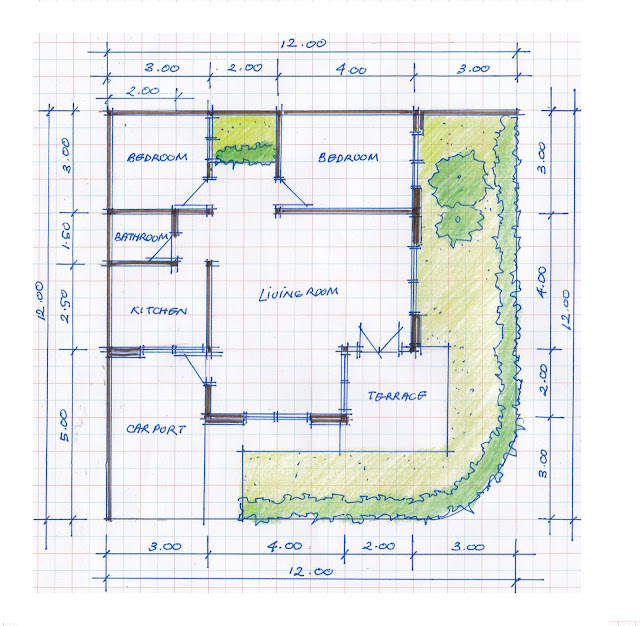 layout of house plan A-12b