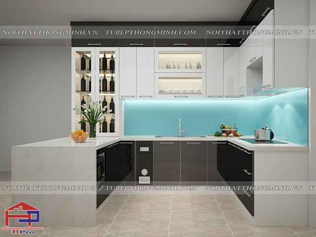Mẫu thiết kế tủ bếp nhựa acrylic -8