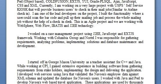 software engineer job resume samples in word format free
