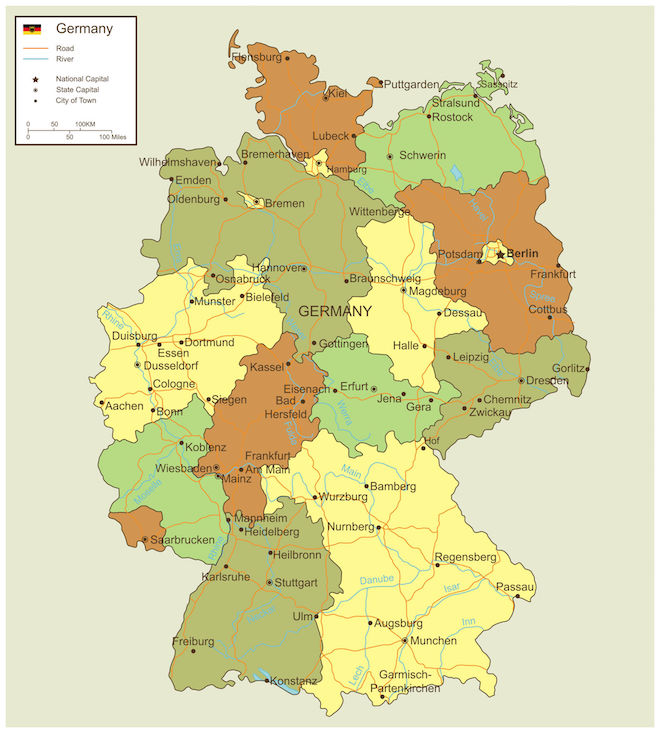 Map Of Germany Regions.German Wine Regions And History Grapes Grains