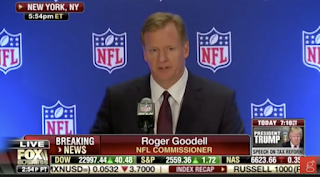 "Roger Goodell repeatedly refers to ""the issues"""