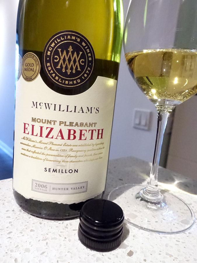 McWilliam's Mount Pleasant Elizabeth Semillon 2006 (91 pts)