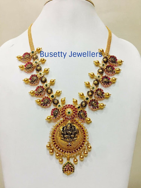 Black Finish Mango Necklace by Busetty Jewellers