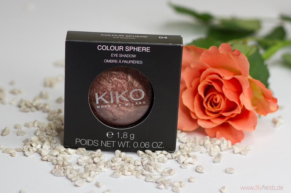 Foto zeigt Kiko Colour Sphere Eyeshadow, Farbe: 04 Golden Bronze Special FX