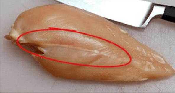 White Lines On The Chicken Meat
