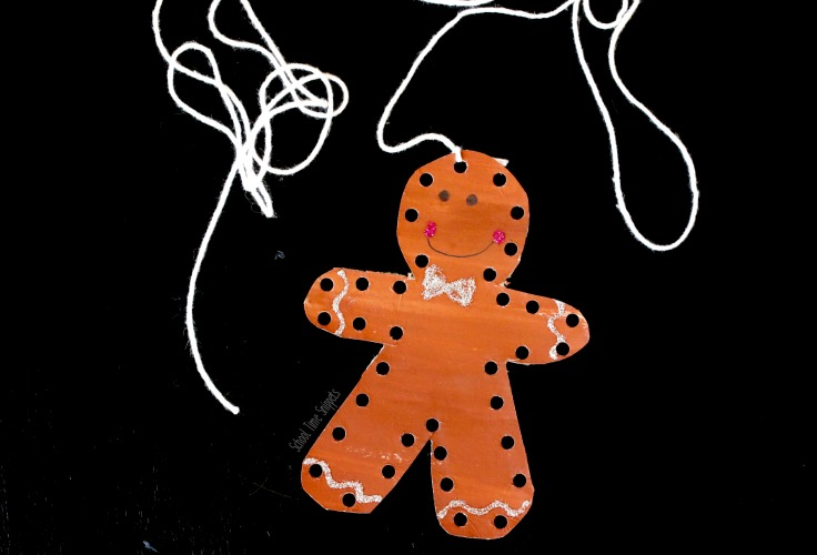gingerbread man activities for preschoolers - gingerbread ornament