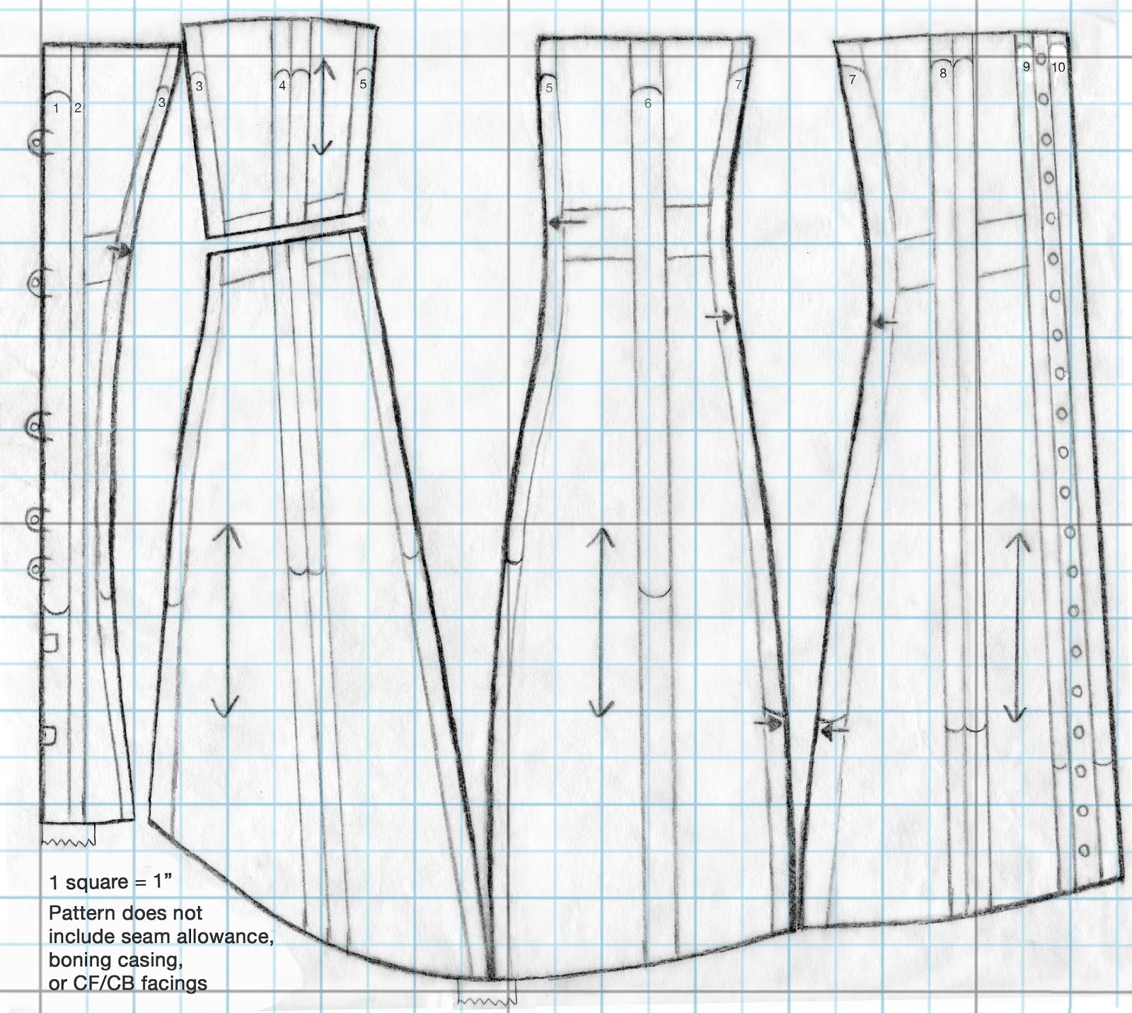 Modelo de espartilho 1910 e instruções - CostureBem.com.br