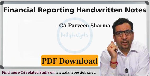 CA Final Financial Reporting Amendments Notes Download