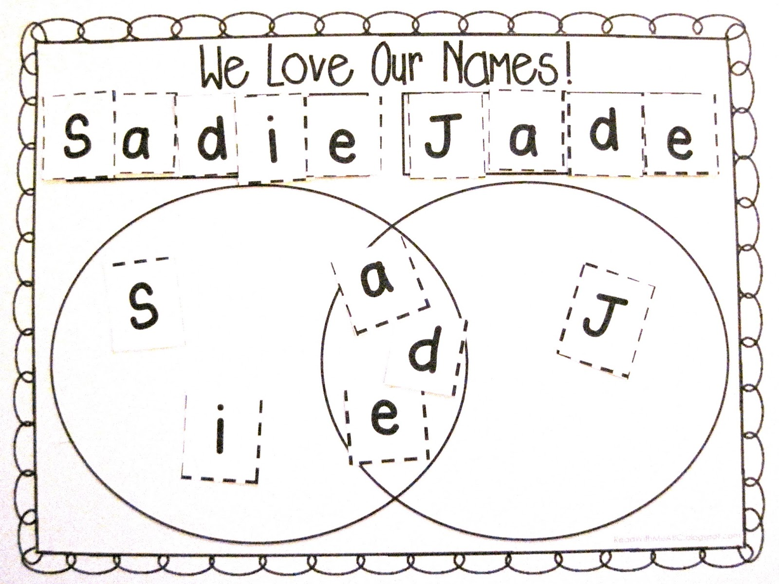 Read With Me Abc B2s Name Activities