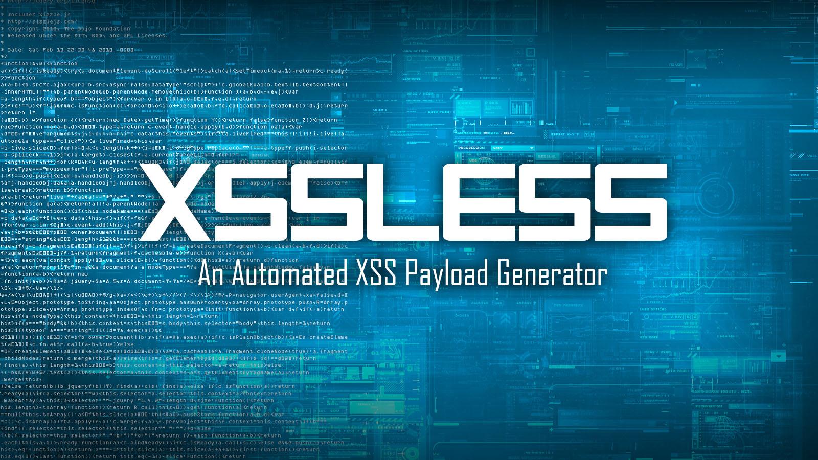 XSSless Python Tool