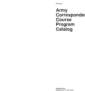 Army Correspondence Course Program - Army Correspondence Courses List