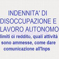 indennità di disoccupazione e lavoro autonomo