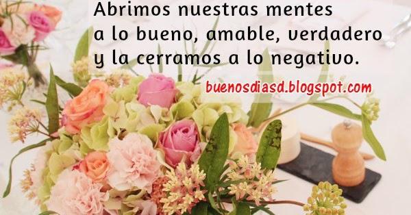 Frases Hermosas De Buenos Dias: Bonitas Frases De Buenos Días Positivas