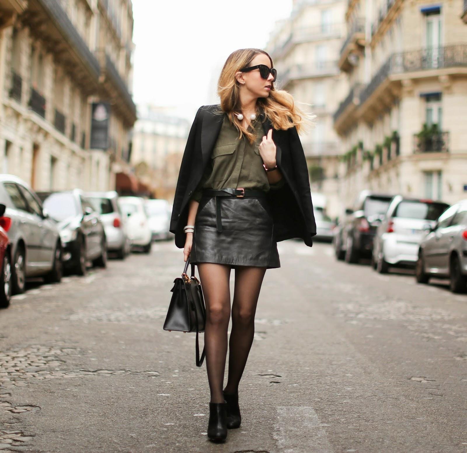topshop, vanessa bruno, zara, louboutin hermès, hermès kelly, fashion blogger, streetstyle, leather,