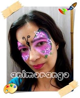 Pintura Facial Borboleta face painting butterfly