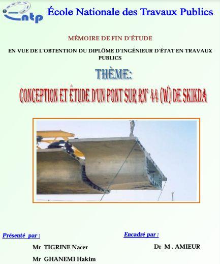 conception et  u00e9tude d u0026 39 un pont - pfe 2
