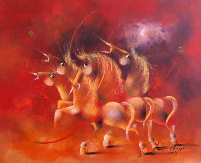 Сербский художник. Janos Mesaros