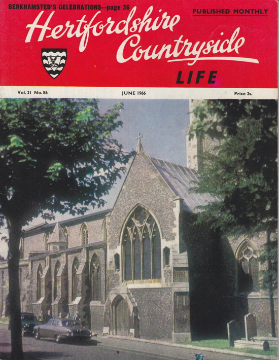 Image: Cover of Hertfordshire Countryside magazine June 1966