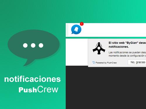 Notificaciones push para tu blog con Pushcrew