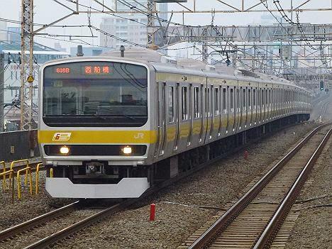 中央・総武緩行線 西船橋行き 209系・E231系(平日朝夕ラッシュ時のみ運行)