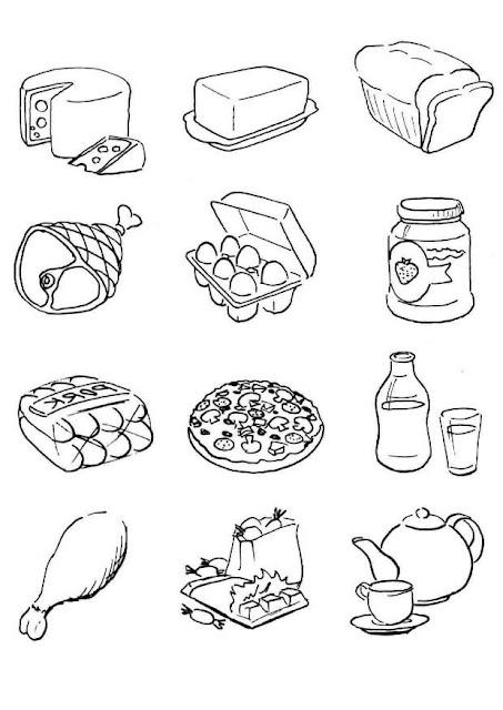 coloriage aliments maternelle