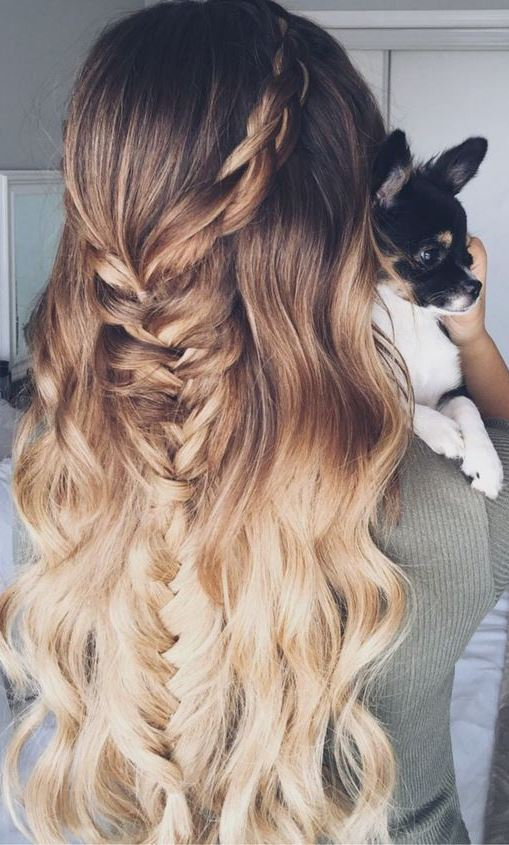 Boho Fishtail Braid Hairstyle For Spring/Summer