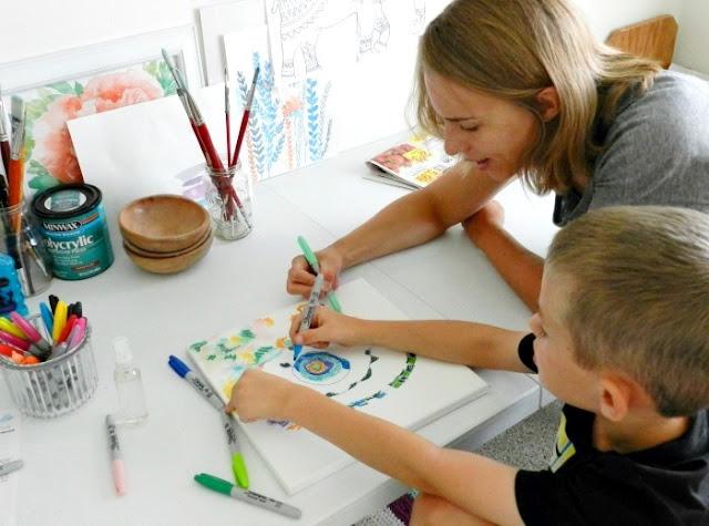 create art with kids