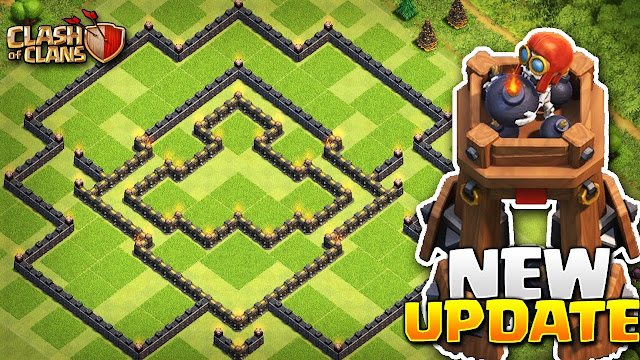 Base TH 9 Terbaik dengan Bomb Tower Clash Of Clans