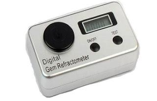 Refratômetro gemológico digital para identificar pedras preciosas