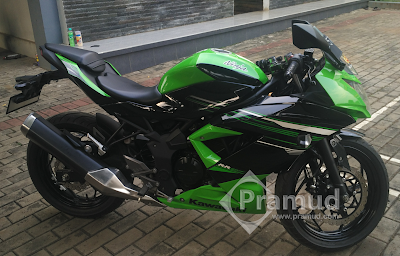 bodi, knalpot, modifikasi, lowering kit ninja 250rr mono 250sl - pramud blog
