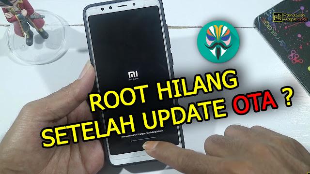 root akses hilang setelah update