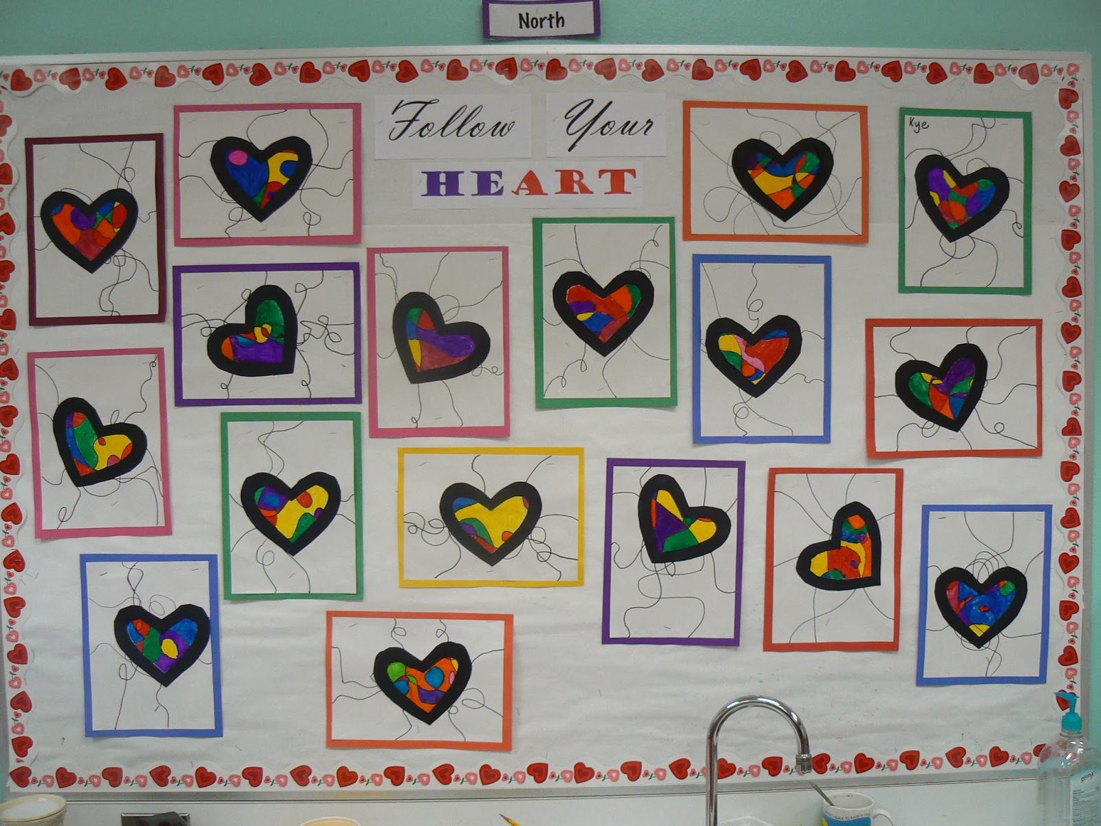 Mrs T S First Grade Class Valentine S Day Bulletin Board