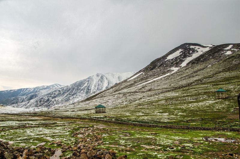 white sheet at Pir Ki Gali after hailstorm