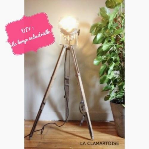 Super DIY DÉCO : la lampe trépied style industriel - LA CLAMARTOISE NS68